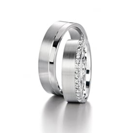 Mens Palladium Wedding Ring - Plain