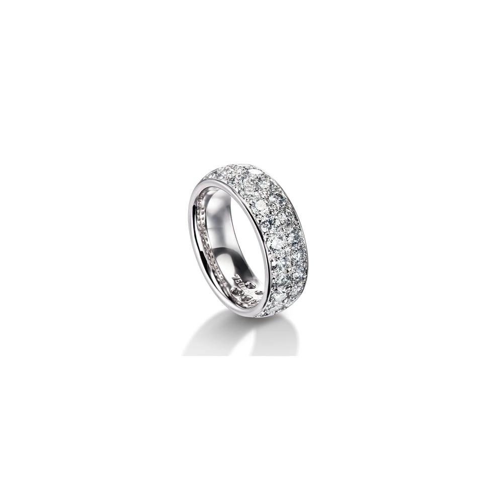 Diamond Wedding Rings.Palladium Fully Set Diamond Ring 2 88ct