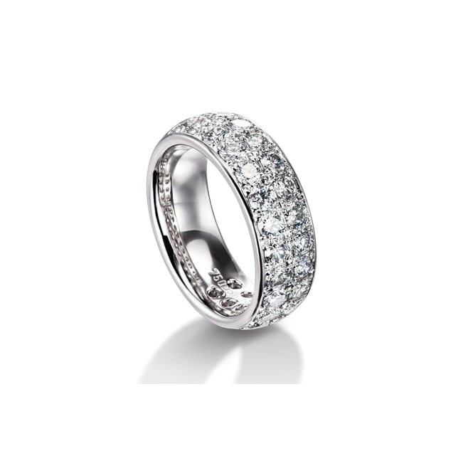Furrer Jacot Platinum Fully Set 2.80ct Diamond Wedding Band
