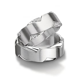 Unisex Plain 18ct White Gold Wedding Ring