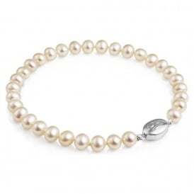 Classic Round Freshwater Pearl Clasp Bracelet