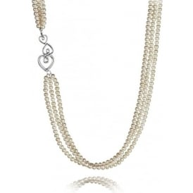 Kimberley Selwood Three Row Pearl Necklace