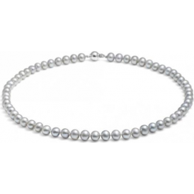 Mid Length Classic Pearl Necklace
