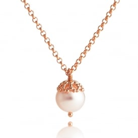 Rose Gold Plated Emma-Kate Pearl Necklace