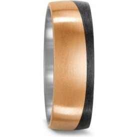 Mens Bronze And Carbon Fibre Wedding Ring