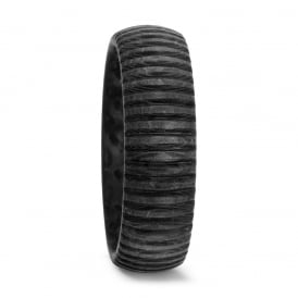 Mens Carbon Fibre Grooved 7mm Wedding Ring