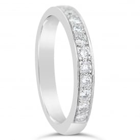 18ct White Gold 0.30ct Brilliant Diamond Wedding Ring
