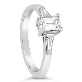 18ct White Gold Baguette 1.20ct Diamond Engagement Ring