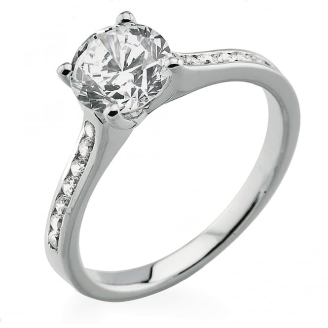 Lance James Engagement 18ct White Gold Brilliant Diamond Engagement Ring