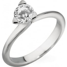 18ct White Gold Brilliant Diamond Ring