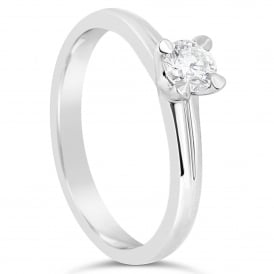 18ct White Gold Brilliant Solitaire Ring