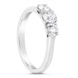 18ct White Gold Brilliant Three Stone Ring