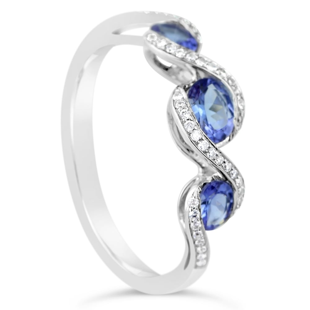 il white violet natural rings products in tanzanite fullxfull gold unique engagement bluish ring an