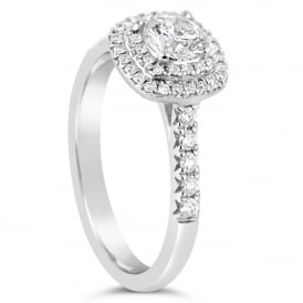 18ct White Gold Fancy 0.50ct Diamond Cluster Ring