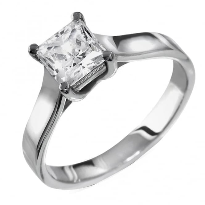 Lance James Engagement 18ct White Gold Princess Diamond Engagement Ring