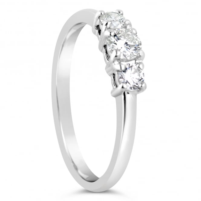 Lance James Engagement 18ct White Gold Three Stone Ring