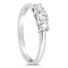 18ct White Gold Three Stone Ring