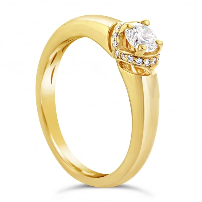Lance James Engagement 18ct Yellow Gold 0.30ct Diamond Engagement Ring