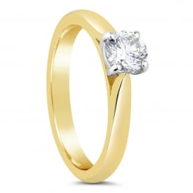18ct Yellow Gold 0.45ct Solitaire Diamond Engagement Ring