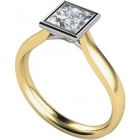 9ct White And Yellow Gold 0.33ct Diamond Engagement Ring