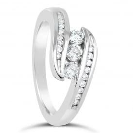 9ct White Gold 0.50ct Diamond Engagement Ring