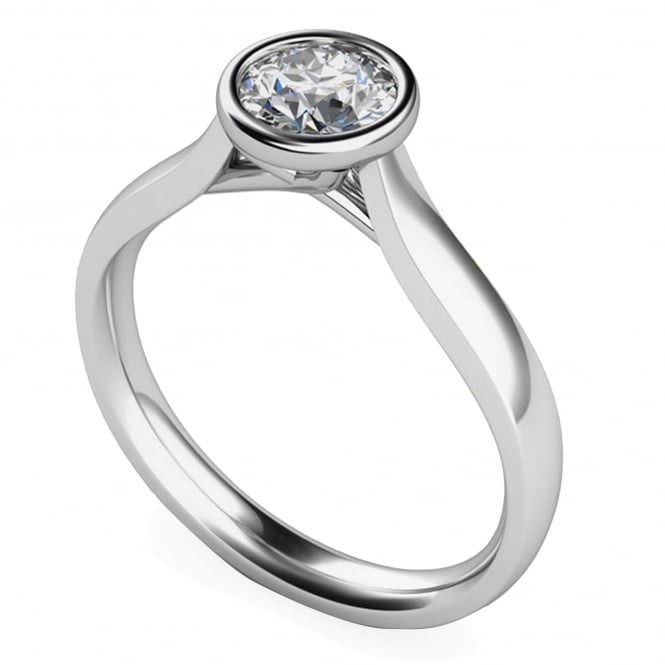 Lance James Engagement 9ct White Gold Brilliant Diamond Ring