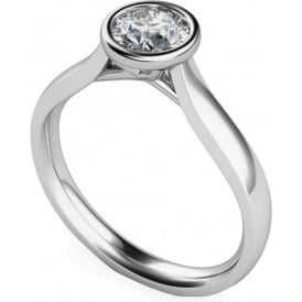 9ct White Gold Brilliant Diamond Ring