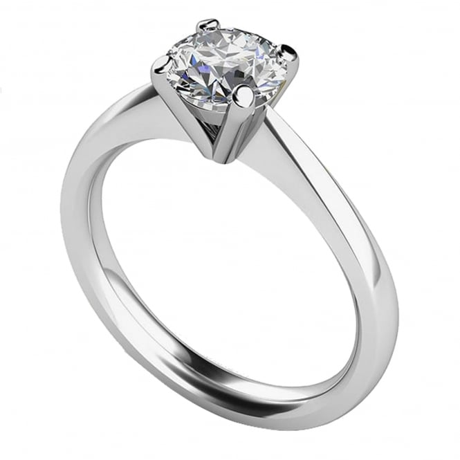 Lance James Engagement 9ct White Gold Brilliant Engagement Ring