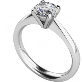 9ct White Gold Brilliant Engagement Ring