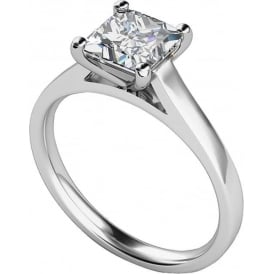 9ct White Gold Princess Diamond Ring