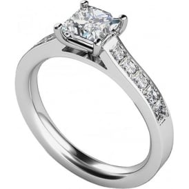 9ct White Gold Princess Engagement Ring