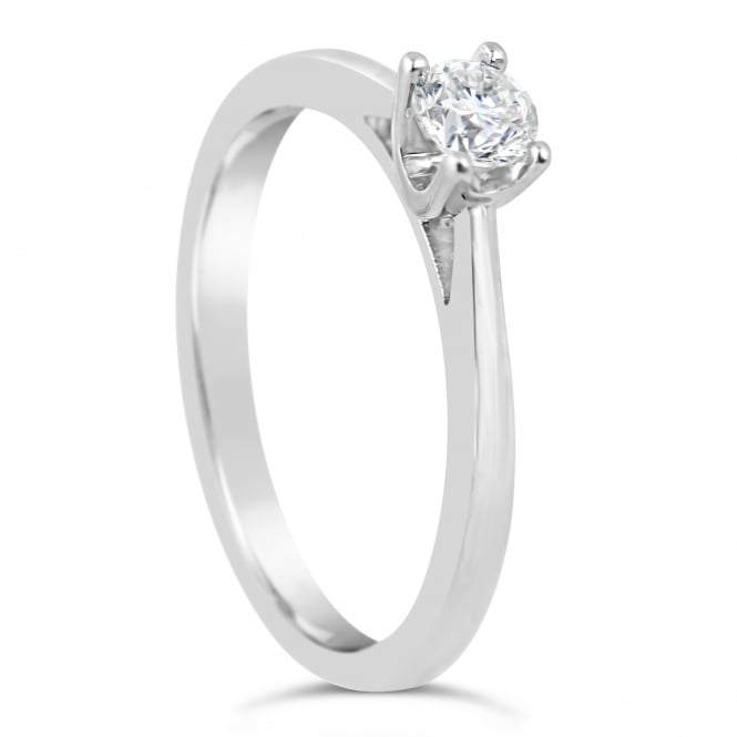 Lance James Engagement 9ct White Gold Solitaire 0.25ct Engagement Ring