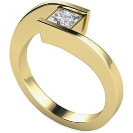 9ct Yellow Gold Princess Diamond Ring