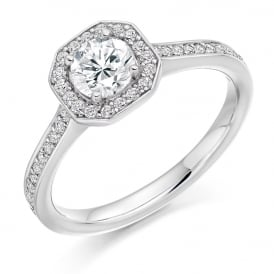 Platinum Brilliant Diamond Set Engagement Ring