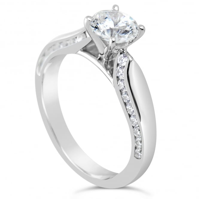 Lance James Engagement Sterling Silver 1.49ct Cubic Zirconia Marry Me Ring - Paris