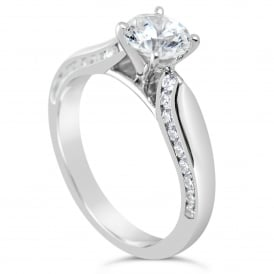 Sterling Silver 1.49ct Cubic Zirconia Marry Me Ring - Paris