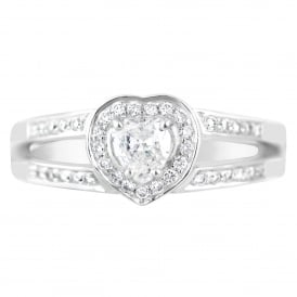 The Lance James 'Elegant Heart' Diamond Engagement Ring