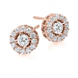 Vintage Claw Set 1.00ct Diamond Cluster Earrings