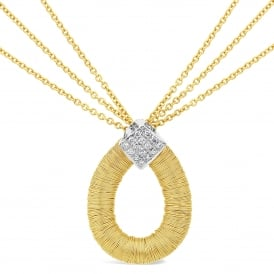 18ct Yellow Gold & Diamond Set Necklace