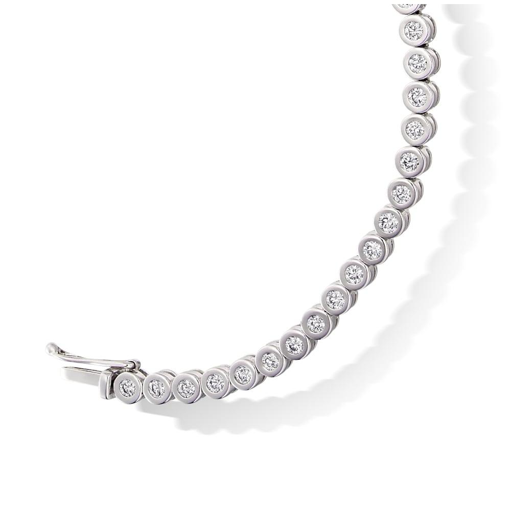 e931fec02a9a 9ct White Gold 2.00ct Rubover Diamond Tennis Bracelet