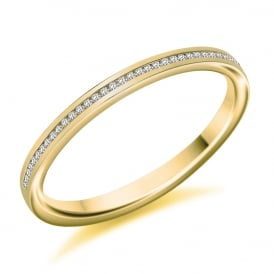 9ct Yellow Gold 0.07ct Channel Set Diamond Ring