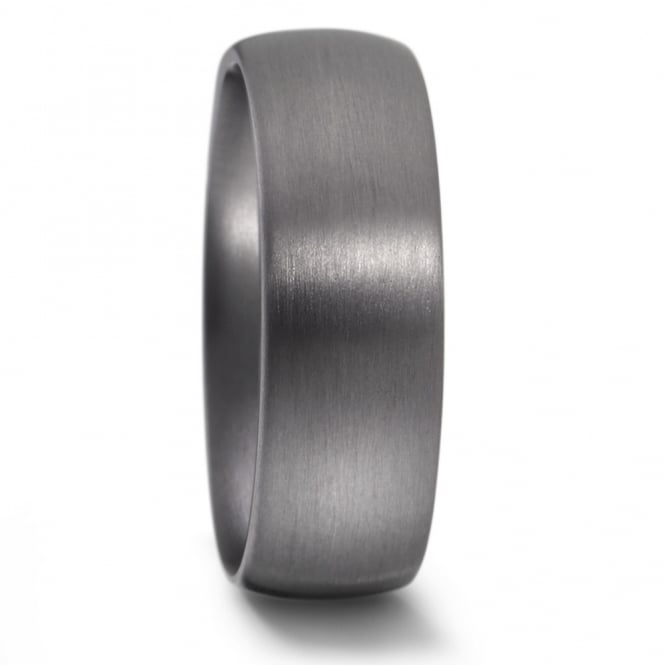 Lance James Jewellery Mens 7mm Plain Tantalum Matt Wedding Ring