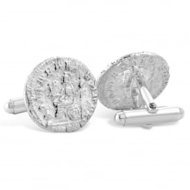 Sterling Silver Roman Coin Cufflinks