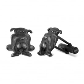 Sterling Silver 'The Mutts Nuts' Cufflinks