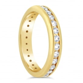 18ct Yellow Gold Fully Set Diamond Band