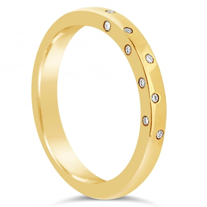 Lance James Wedding & Eternity 18ct Yellow Gold Side Set Diamond Band