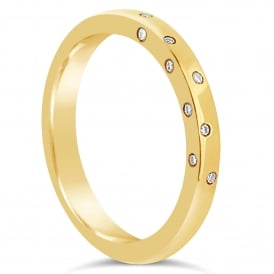 18ct Yellow Gold Side Set Diamond Band