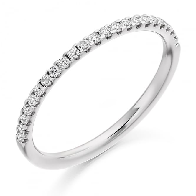 Lance James Wedding & Eternity 18ct White Gold 0.25ct Micro Claw Diamond Ring