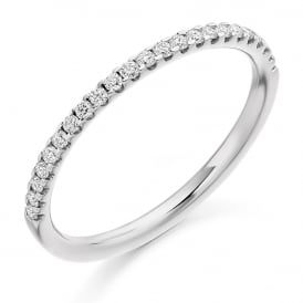18ct White Gold 0.25ct Micro Claw Diamond Ring