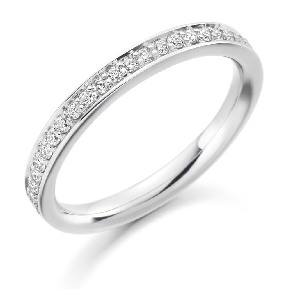 34d02d9cd0523 Lance James Wedding & Eternity 18ct White Gold 0.25ct Vintage Grain Set  Eternity Ring